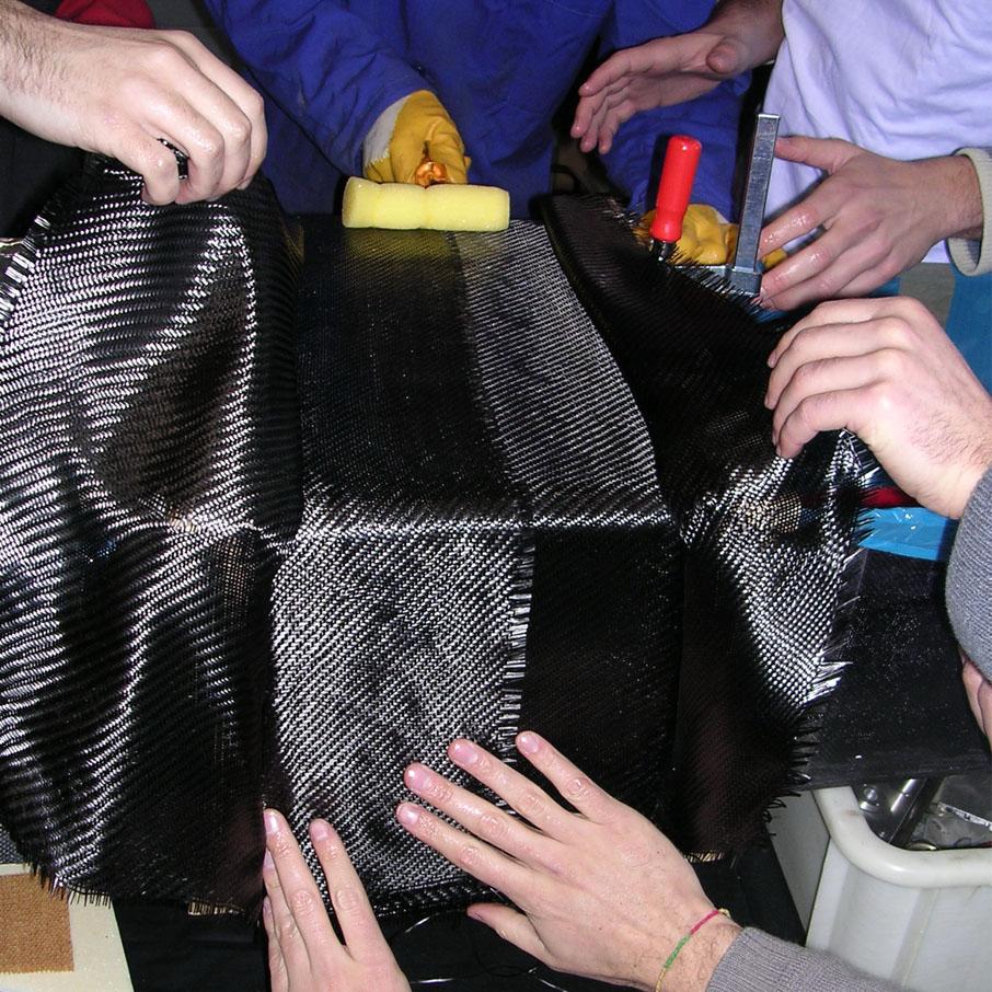 Draping a CFRP fabric