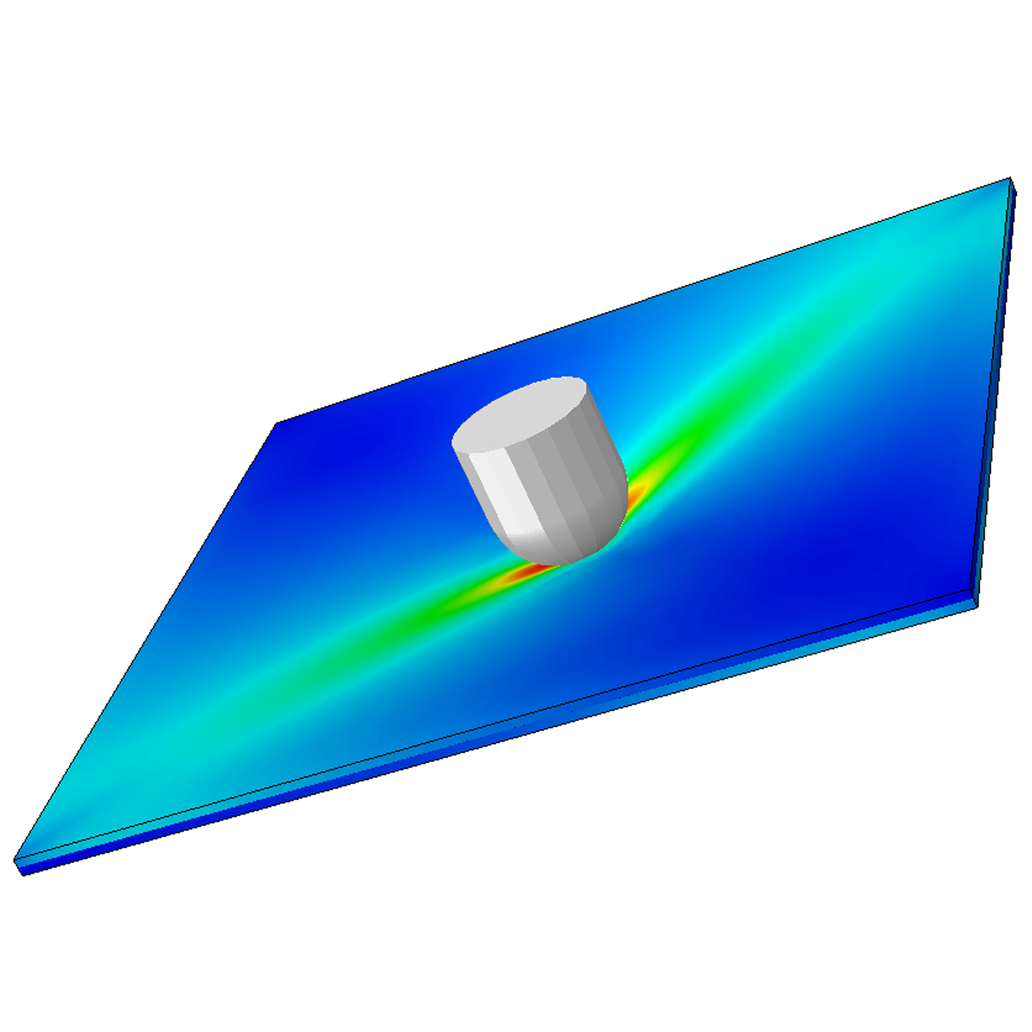 Simulation of a low velocity imapct