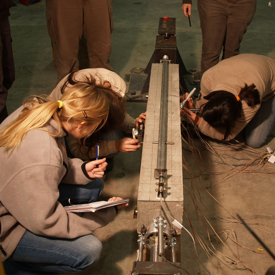 Instrumenting a beam before testing